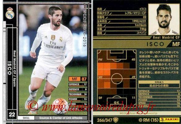 2015-16 - Panini WCCF - N° 266 - ISCO (Real Madrid CF)