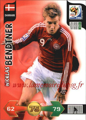 2010 - Panini FIFA World Cup South Africa Adrenalyn XL - N° 082 - Nicklas BENDTNER (Danemark)