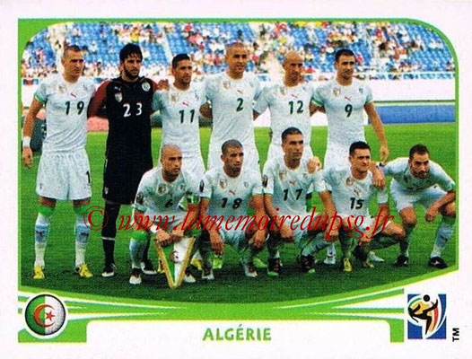 2010 - Panini FIFA World Cup South Africa Stickers - N° 220 - Équipe Algérie
