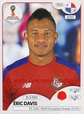 2018 - Panini FIFA World Cup Russia Stickers - N° 540 - Eric DAVIS (Panama)