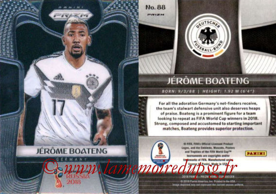 2018 - Panini Prizm FIFA World Cup Russia - N° 088 - Jerome BOATENG (Allemagne)