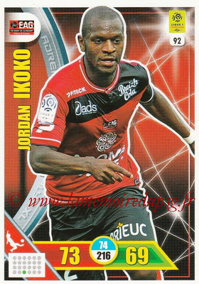 2017-18 - Panini Adrenalyn XL Ligue 1 - N° 092 - Jordan IKOKO (Guingamp)