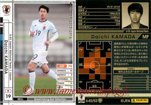 2015-16 - Panini WCCF - N° A40 - Daichi KAMADA (Japon)