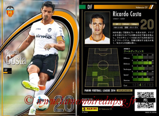 Panini Football League 2014 - PFL06 - N° 045 - Ricardo COSTA (FC Valence) (Star +)