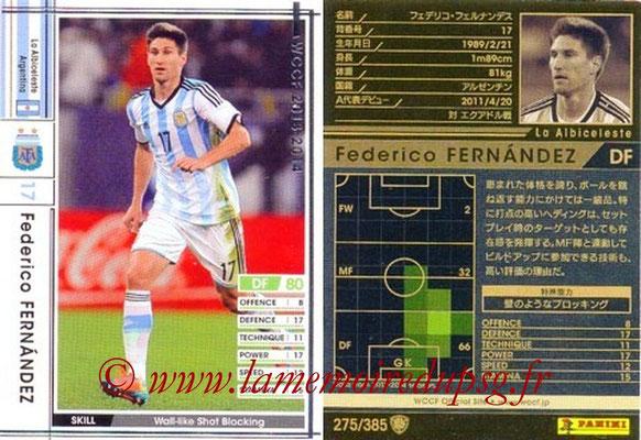 2013-14 - WCCF - N° 275 - Federico FERNANDEZ (Argentine)