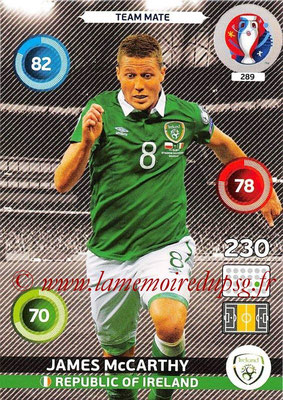 Panini Euro 2016 Cards - N° 289 - James McCARTHY (République d Irlande)