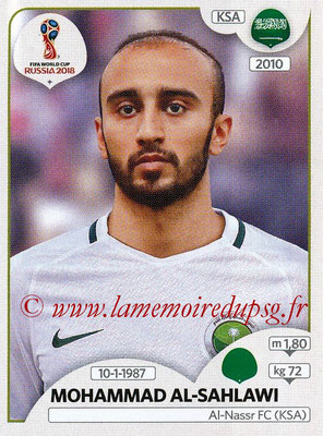 2018 - Panini FIFA World Cup Russia Stickers - N° 069 - Mohammad AL-SAHLAWI (Arabie Saoudite)