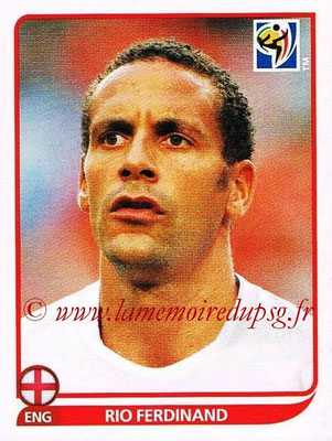2010 - Panini FIFA World Cup South Africa Stickers - N° 186 - Rio FERDINAND (Angleterre)