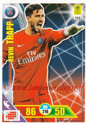 2017-18 - Panini Adrenalyn XL Ligue 1 - N° 253 - Kevin TRAPP (Paris Saint-Germain)