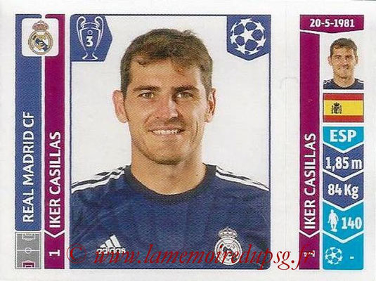 2014-15 - Panini Champions League N° 109 - Iker CASILLAS (Real Madrid FC)