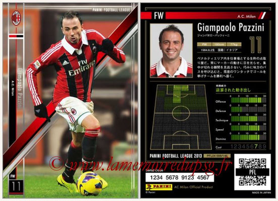 Panini Football League 2013 - PFL04 - N° 008 - Giampaolo PAZZINI (Milan AC)