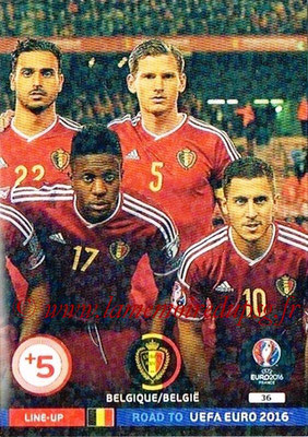 Panini Road to Euro 2016 Cards - N° 036 - Equipe Belgique 3
