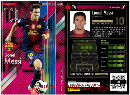 Panini Football League 2013 - PFL01 - N° 188 - Lionel Messi ( FC Barcelona ) (Super FW)