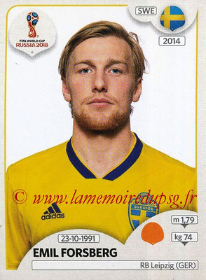 2018 - Panini FIFA World Cup Russia Stickers - N° 483 - Emil FORSBERG (Suede)