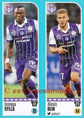 2016-17 - Panini Ligue 1 Stickers - N° 812 + 813 - Issiaga SYLLA + Alexis BLIN (Toulouse)