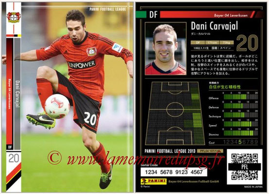 Panini Football League 2013 - PFL04 - N° 107 - Dani CARVAJAL (Bayer Leverkusen)