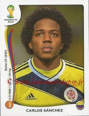 2014 - Panini FIFA World Cup Brazil Stickers - N° 193 - Carlos SANCHEZ (Colombie)