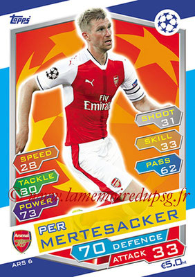 2016-17 - Topps UEFA Champions League Match Attax - N° ARS6 - Per MERTESACKER (Arsenal FC)