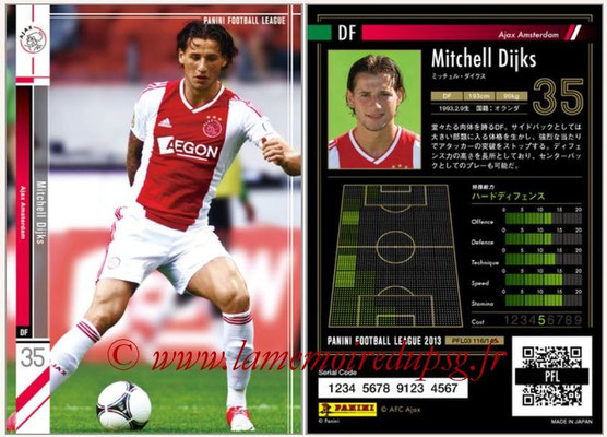 Panini Football League 2013 - PFL03 - N° 116 - Mitchell Dijks (Ajax Amsterdam)