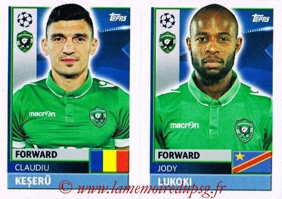 2016-17 - Topps UEFA Champions League Stickers - N° QFF 15-16 - Jody LUKOKI + Claudiu KETERU (PFC Ludogoretz Razgrad)