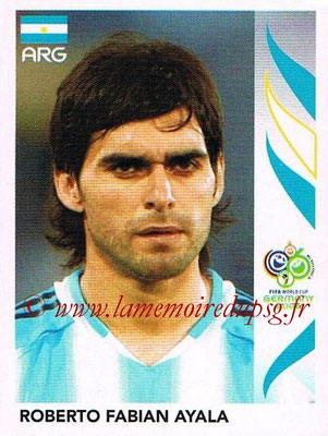 2006 - Panini FIFA World Cup Germany Stickers - N° 172 - Roberto Fabian AYALA (Argentine)