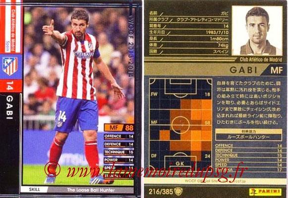 2013-14 - WCCF - N° 216 - GABI (Atletico Madrid)