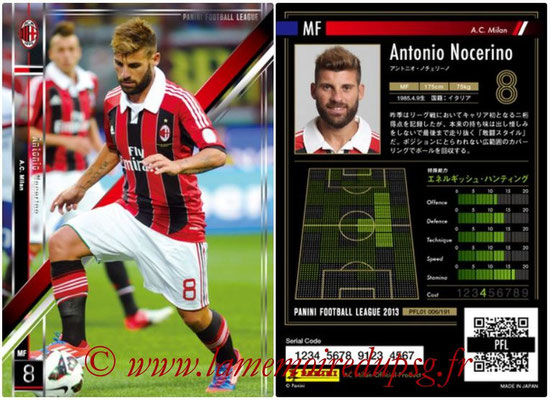 Panini Football League 2013 - PFL01 - N° 006 - Antonio Nocerino ( A.C. Milan )