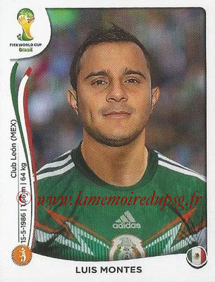 2014 - Panini FIFA World Cup Brazil Stickers - N° 082 - Luis MONTES (Mexique)