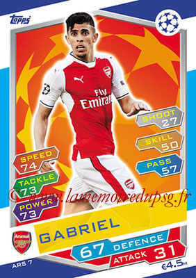 2016-17 - Topps UEFA Champions League Match Attax - N° ARS7 - GABRIEL (Arsenal FC)