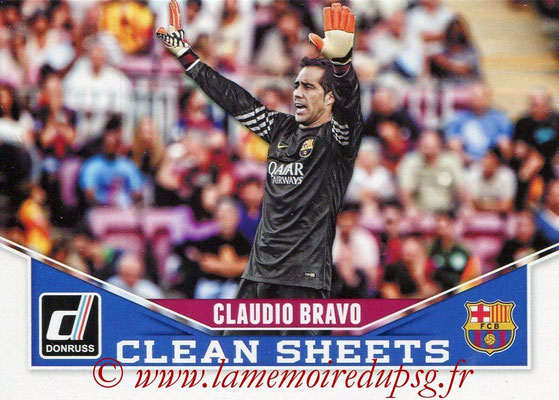 2015 - Panini Donruss Soccer - N° CS02 - Claudio BRAVO (FC Barcelone) (Clean Sheets)