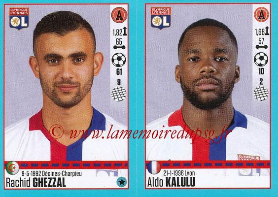 2016-17 - Panini Ligue 1 Stickers - N° 376 + 377 - Rachid GHEZZAL + Aldo KALULU (Lyon)