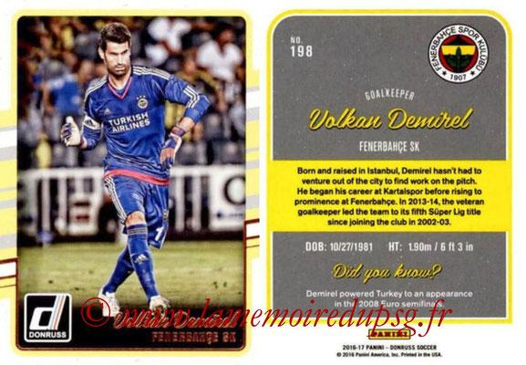 2016 - Panini Donruss Cards - N° 198 - Volkan DEMIREL (Fenerbahce SK)