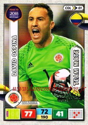 2018 - Panini Road to FIFA World Cup Russia Adrenalyn XL - N° COL01 - David OSPINA (Colombie)