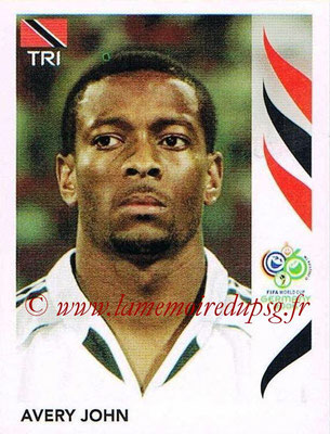 2006 - Panini FIFA World Cup Germany Stickers - N° 135 - Avery JOHN (Trinidad et Tobago)