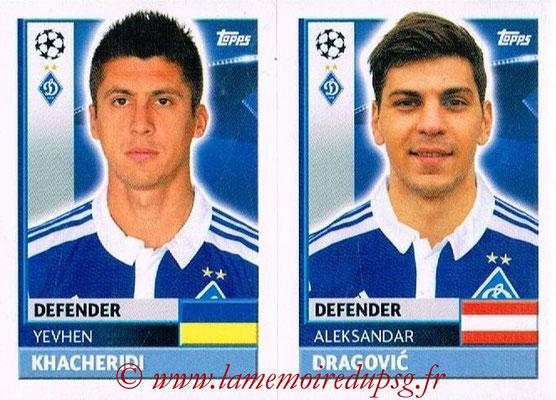 2016-17 - Tops UEFA Champions League Stickers - N° DYN 8-9 - Aleksandar DRAGOVIC + Yevhen KHACHERIDI (FC Dynamo Kiev)