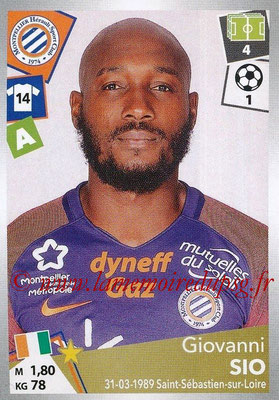 2017-18 - Panini Ligue 1 Stickers - N° 306 - Giovanni SIO (Montpellier)