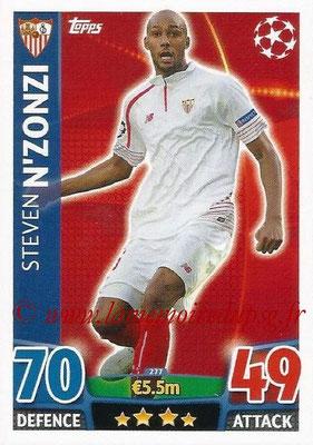 2015-16 - Topps UEFA Champions League Match Attax - N° 277 - Steven N'ZONZI (FC Seville)
