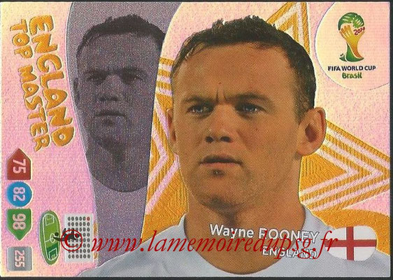 2014 - Panini FIFA World Cup Brazil Adrenalyn XL - N° 409 - Wayne ROONEY (Angleterre) (Top Master)