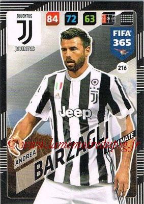 2017-18 - Panini FIFA 365 Cards - N° 216 - Andrea BARZAGLI (Juventus)