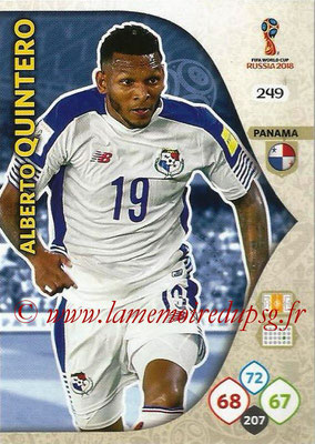 2018 - Panini FIFA World Cup Russia Adrenalyn XL - N° 249 - Alberto QUINTERO (Panama)