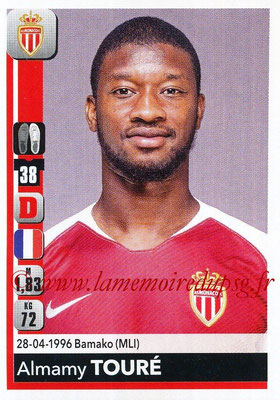 2018-19 - Panini Ligue 1 Stickers - N° 234 - Almamy TOURE (Monaco)