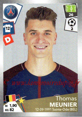 2017-18 - Panini Ligue 1 Stickers - N° 371 - Thomas MEUNIER (Paris Saint-Germain)