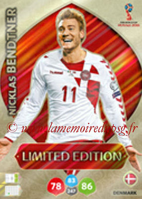 2018 - Panini FIFA World Cup Russia Adrenalyn XL - N° LE-NB - Nicklas BENDTNER (Danemark) (Limited Edition)