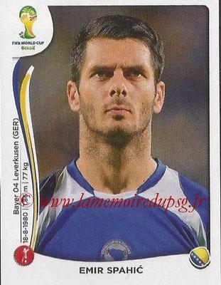 2014 - Panini FIFA World Cup Brazil Stickers - N° 434 - Emir SPAHIC (Bosnie Herzegovine)