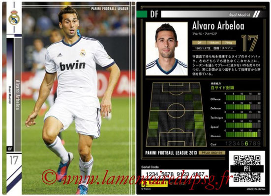 Panini Football League 2013 - PFL01 - N° 060 - Alvaro Arbeloa ( Real Madrid )