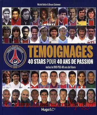 2010-11-06 - Témoignages - 40 stars pour 40ans de passion (Hugo & Compagnie, 160 pages) OK