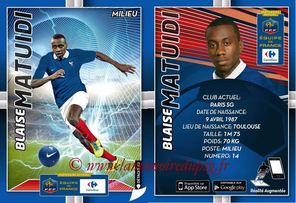 WC 2014 Collection Carrefour 3D Bleus - N° 14 - Blaise MATUIDI (Paris SG)