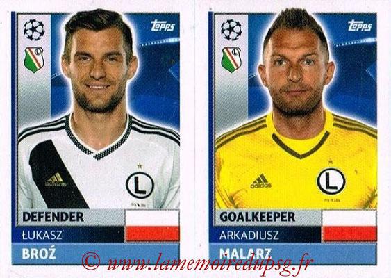2016-17 - Topps UEFA Champions League Stickers - N° QFE 3-4 - Arkadiusz MALARZ + Lukasz BROZ (Legia Varsovie)