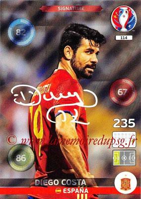 Panini Euro 2016 Cards - N° 114 - Diego COSTA (Espagne) (Signature)