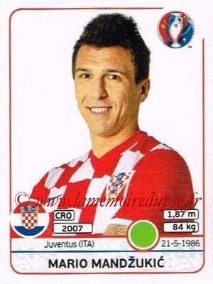 Panini Euro 2016 Stickers - N° 456 - Mario MANDZUKIC (Croatie)